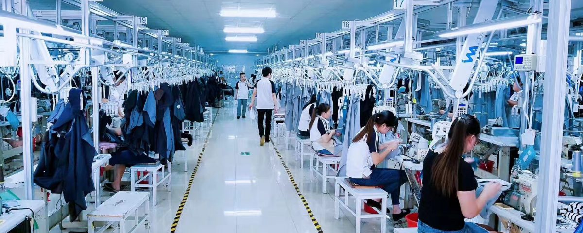 apparel chain-garment factory in China