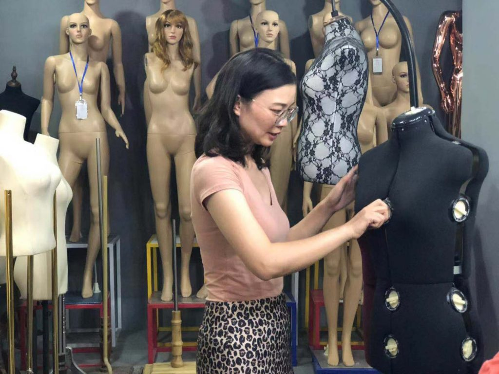 Mannequin wholesale market clothes dummy wholesaler in China Jersey Covered Dressforms